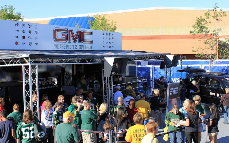 GMC Travels the Country for Monday Night Football Tour