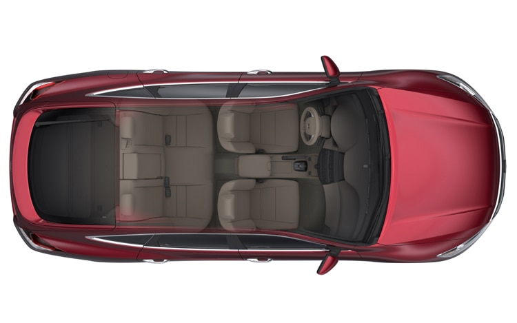 2011 Honda Accord Crosstour Top View Rendering