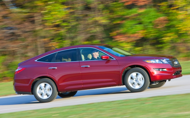 2011 Honda Accord Crosstour Passengers Side View In Motion