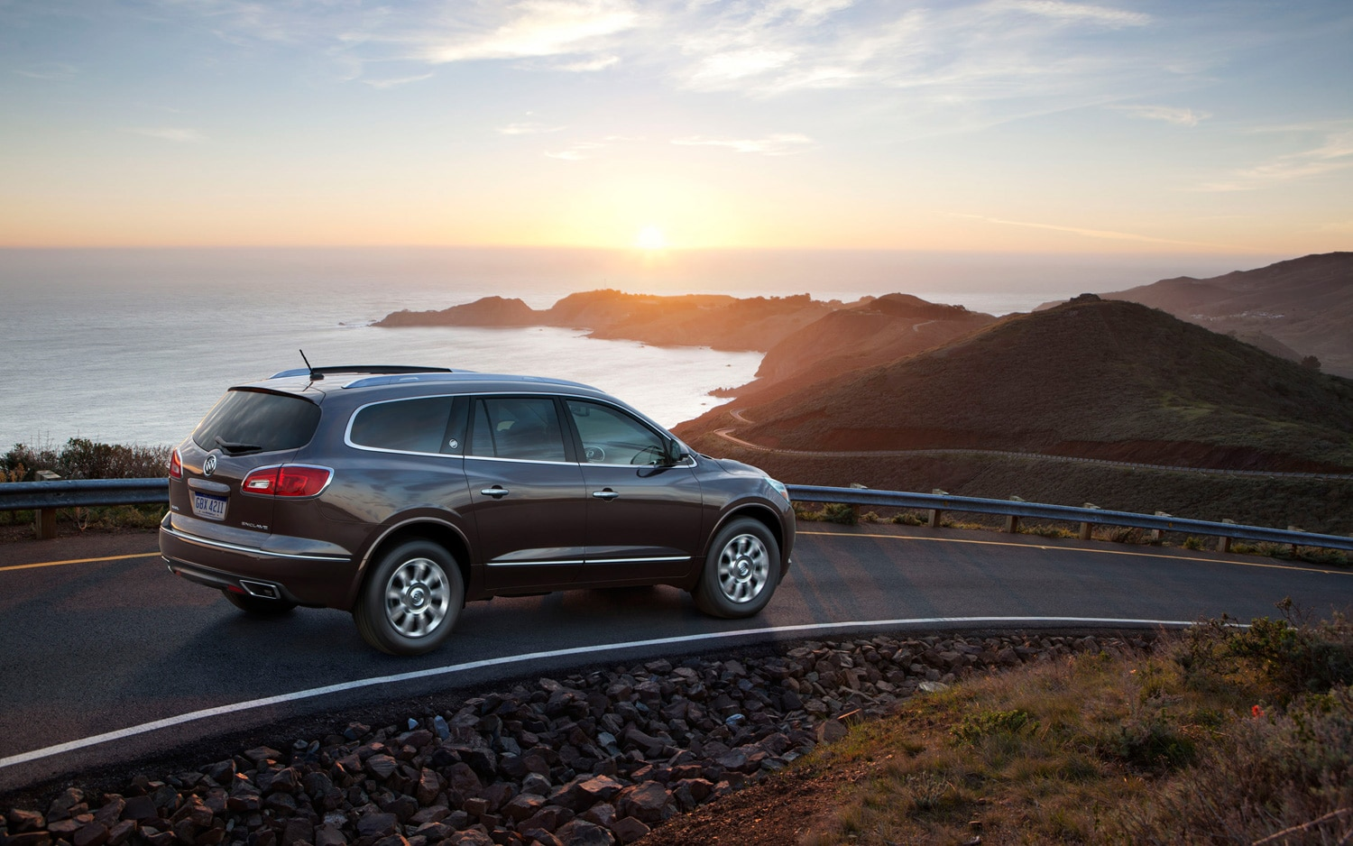 2013 Buick Enclave Rear Three Quarters In Motion
