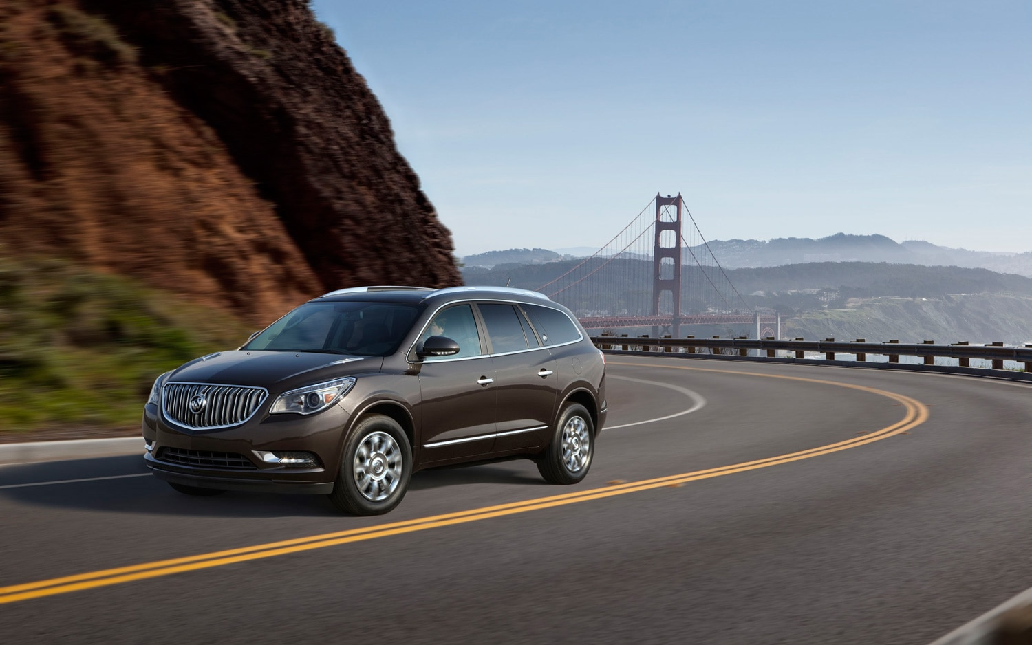 2013 Buick Enclave Front Three Quarter In Motion