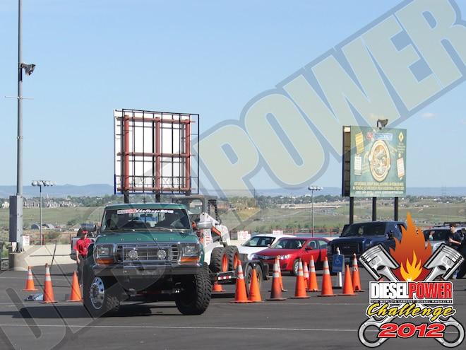 diesel Power Challenge 2012 Trailer Obstacle Course john Garner 1979 Ford F350