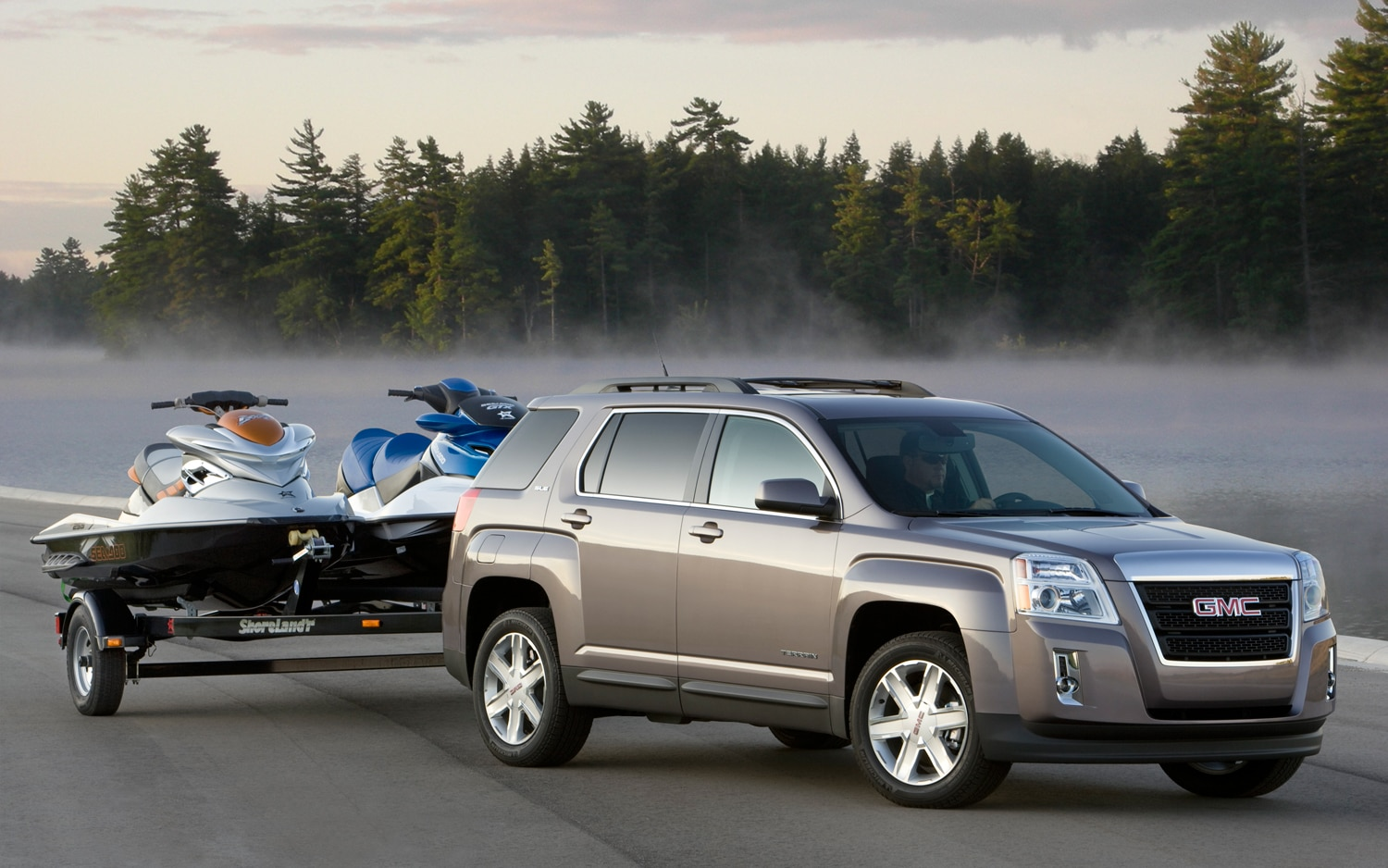 Towing A Jet Ski Or A Small Boat Trailer Sway Control Makes Gmc S Terrain And Acadia Solid Choices Truck Trend News