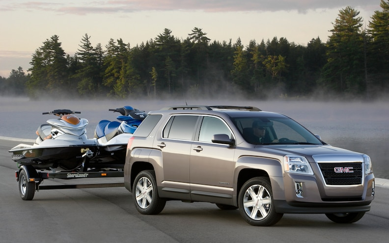 Towing a Jet Ski or a Small Boat? Trailer Sway Control Makes GMC's Terrain and Acadia Solid Choices