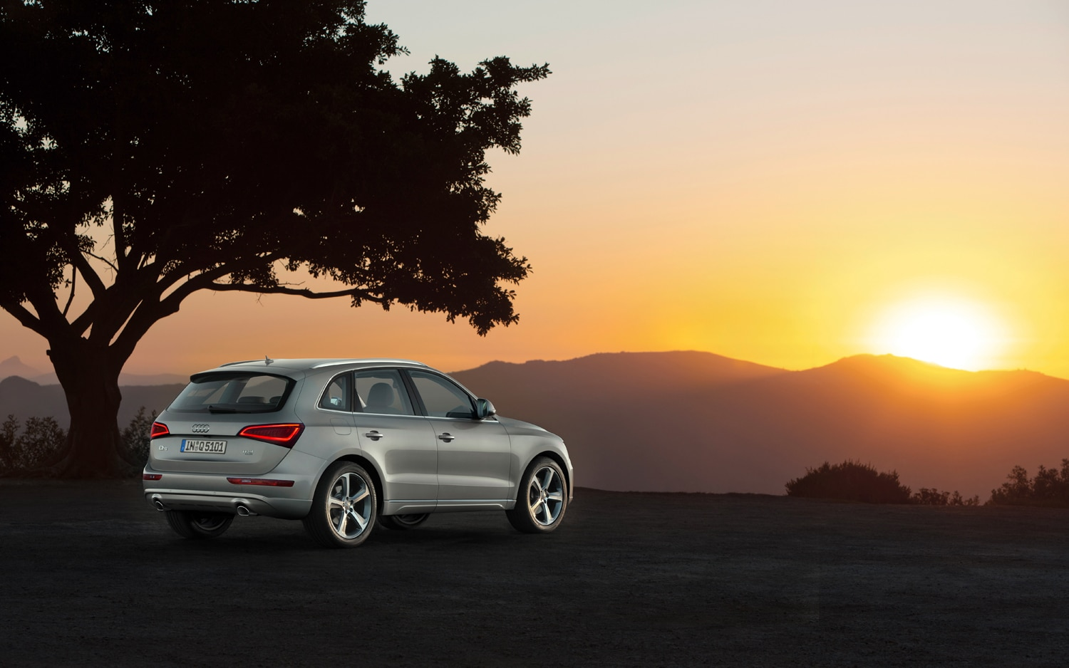 2013 Audi Q5 Rear Three Quarter