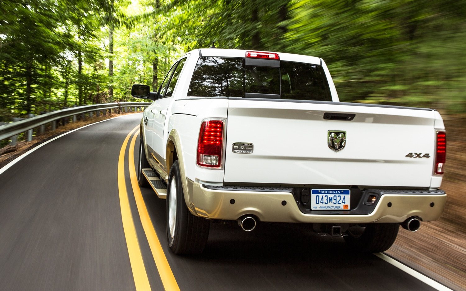 2013 Ram 1500 Rear Three Quarters In Motion
