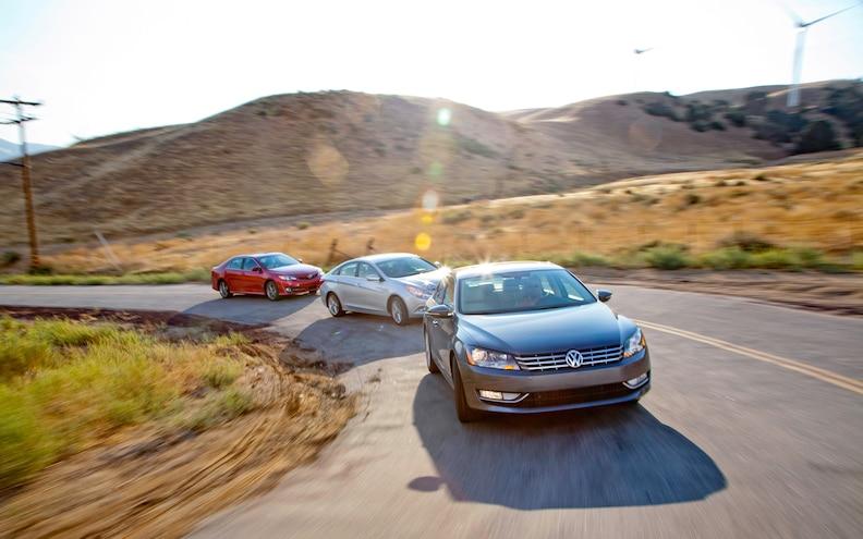 Comparison: 2011 Hyundai Sonata SE 2.0T vs 2012 Toyota Camry SE V-6 vs 2012 Volkswagen Passat VR6 SEL
