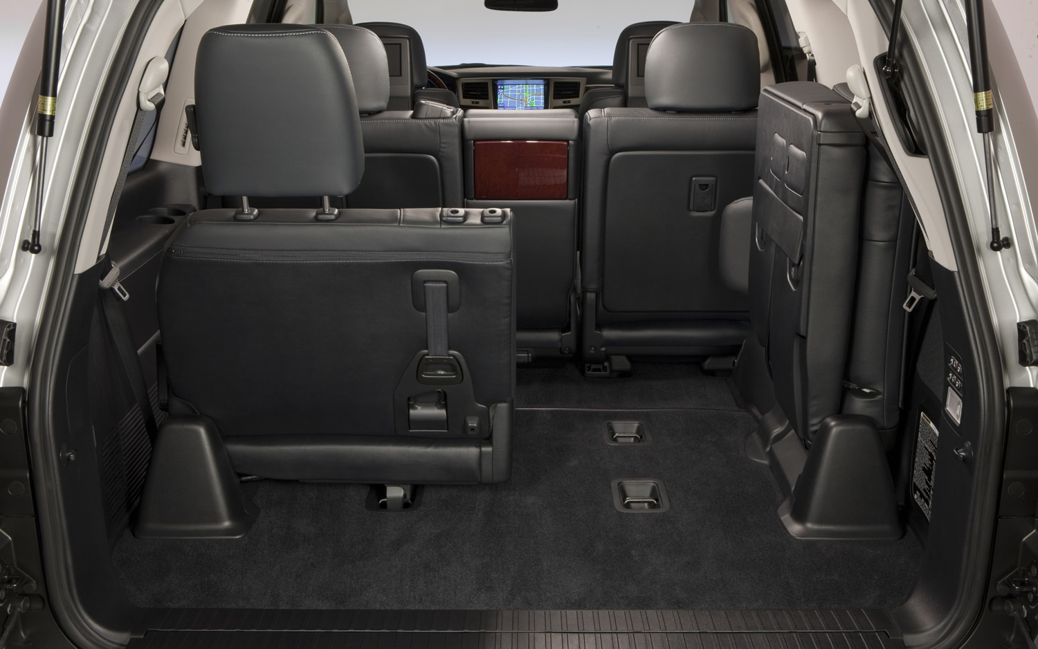 2013 Lexus LX 570 Rear Interior With Seat Folded