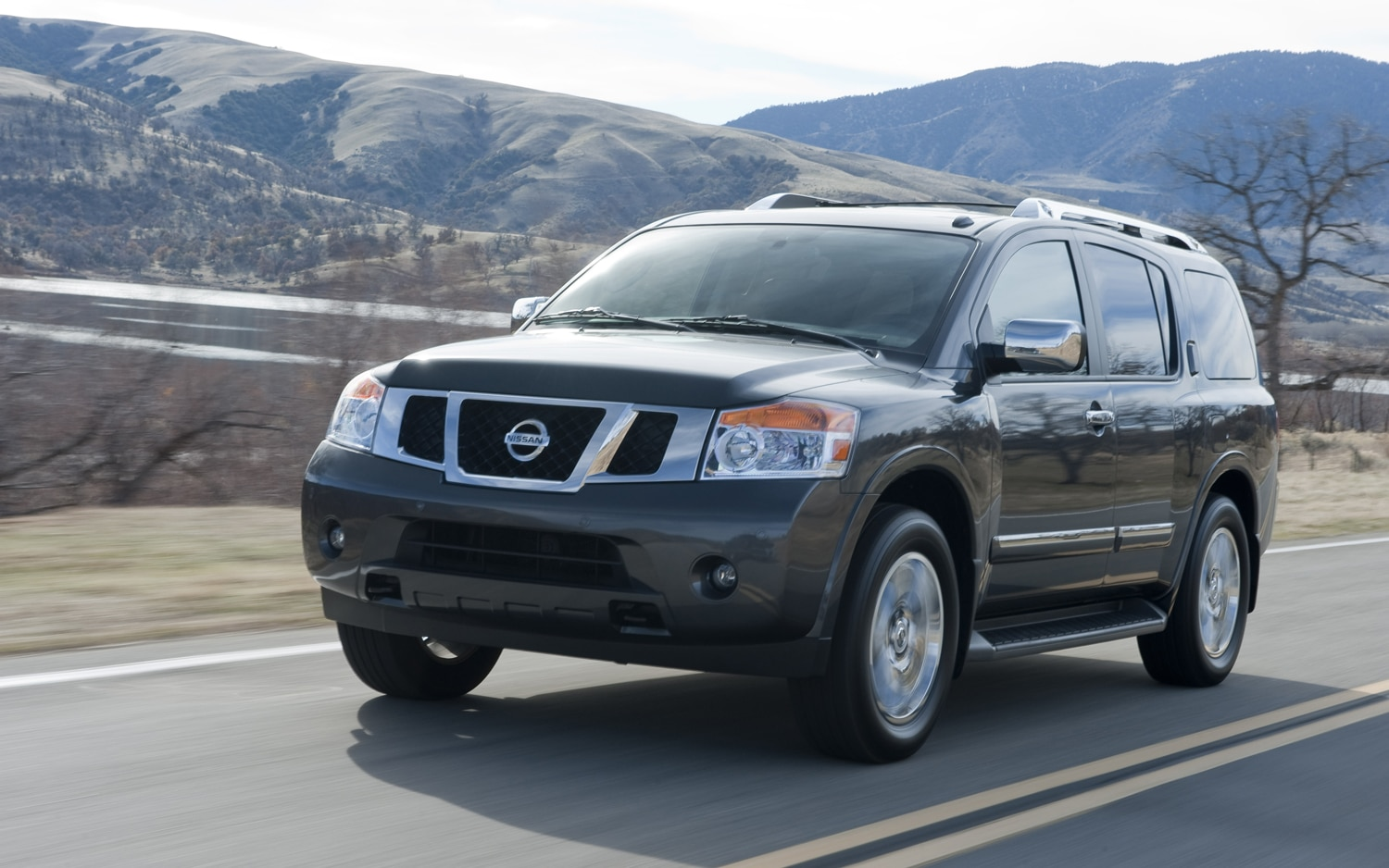 2012 Nissan Armada Front Three Quarter In Motion