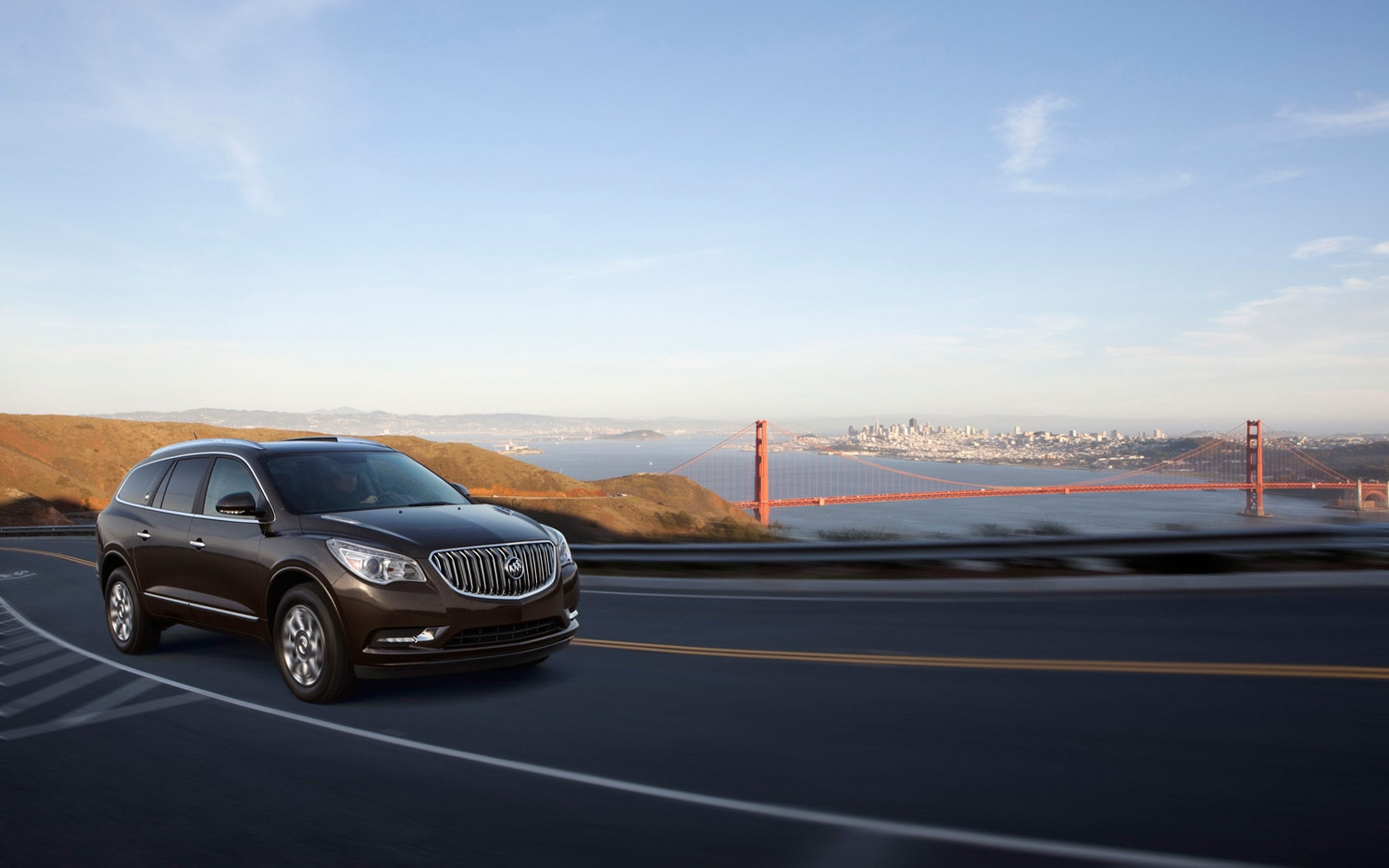 2013 Buick Enclave Front Three Quarters In Motion