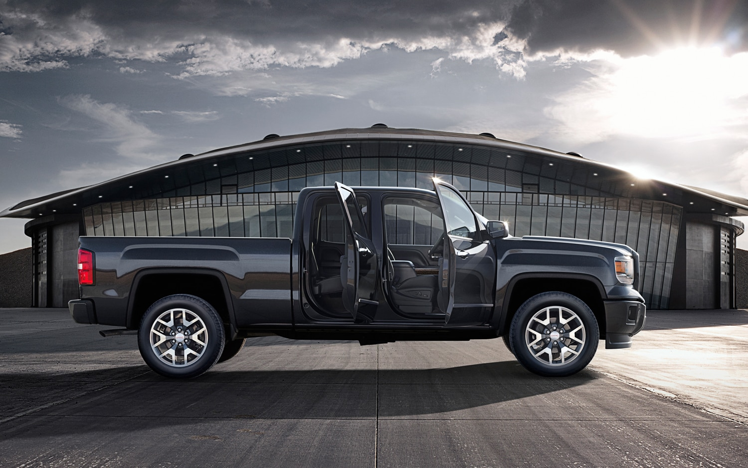 2014 GMC Sierra Allterrain Side Profile Doors Open