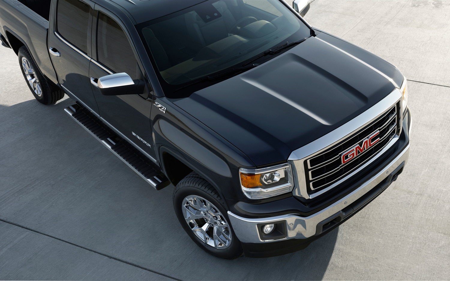 2014 GMC Sierra Hood Detail Location