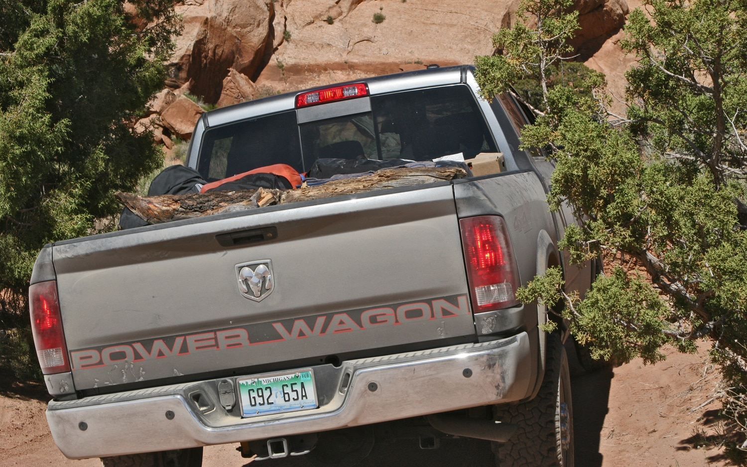 Ram Power Wagon Upper Muely Twist Canyon Rear View