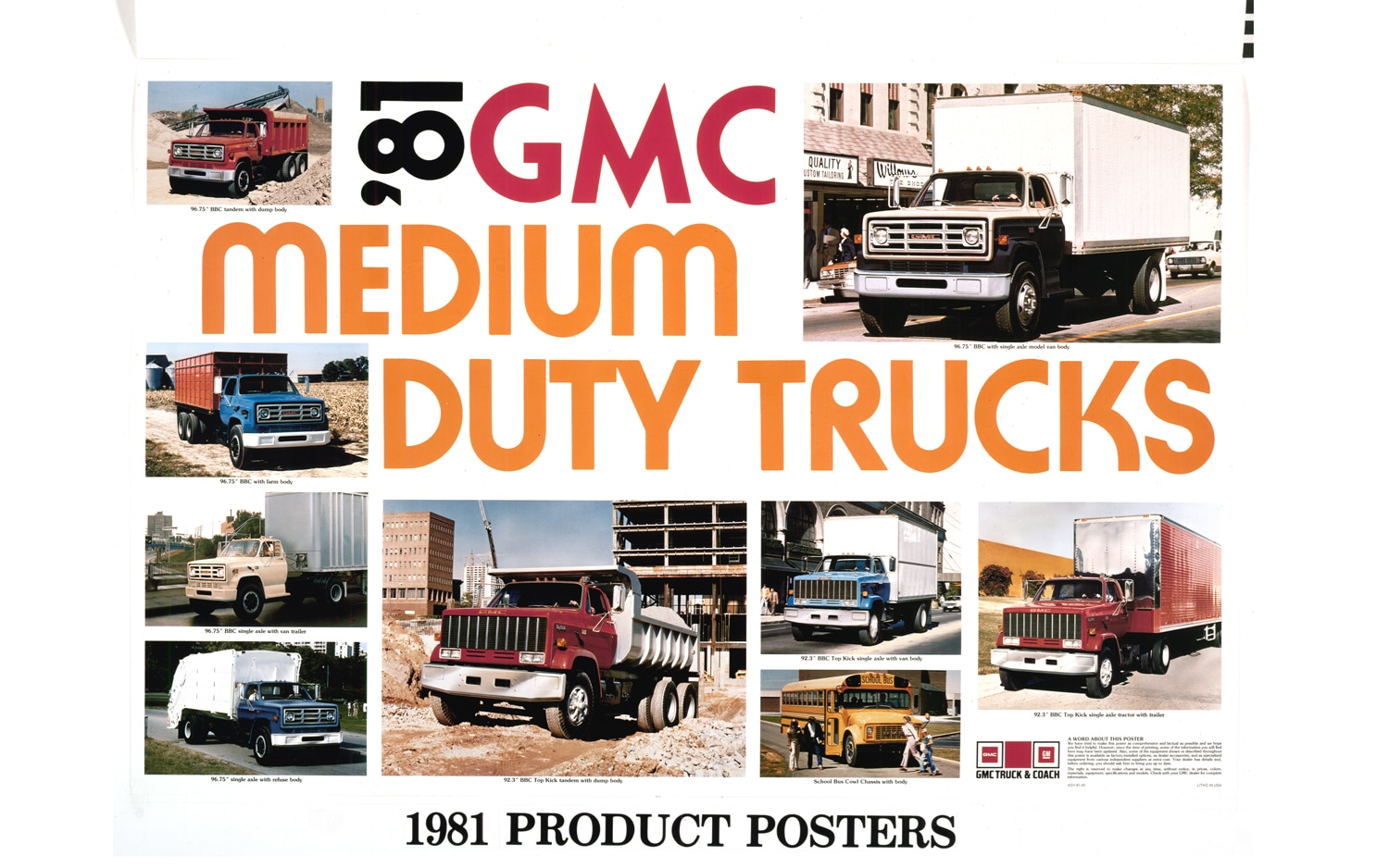 1981 GMC Products Poster