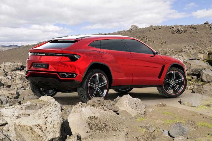 Lamborghini Urus Prototype Right Rear View