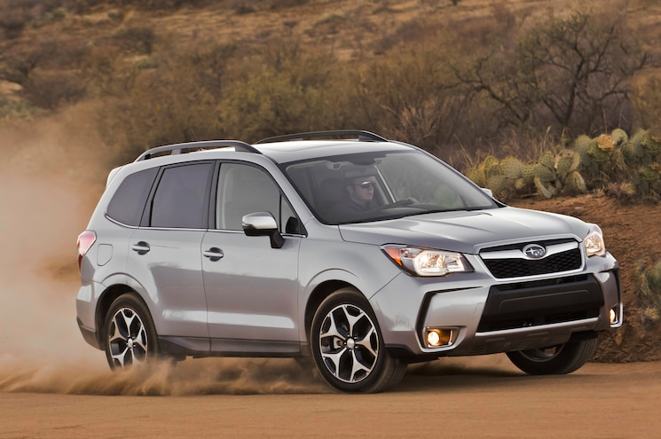 2014 Subaru Forester XT Passengers Side Front Three Quarters View 24