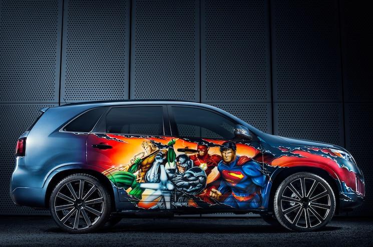 Justice League 2014 Kia Sorento Unveiled at Comi-Con
