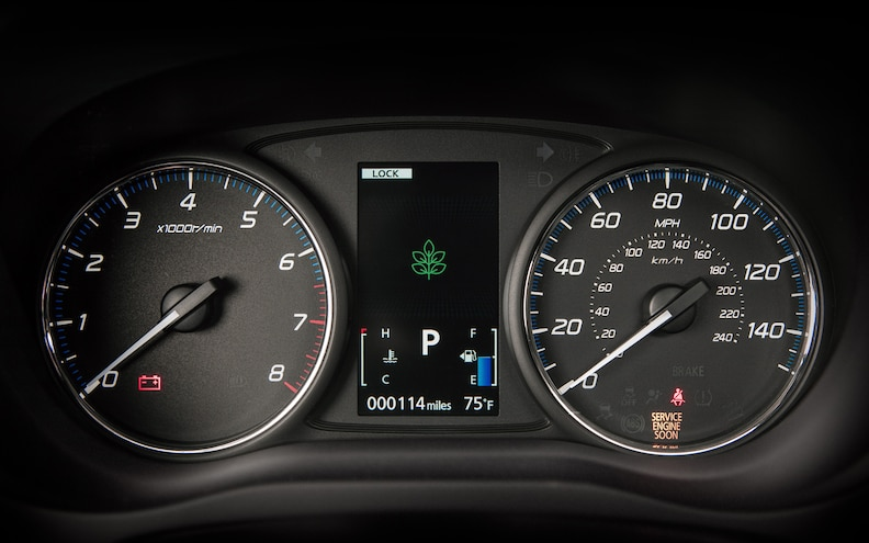 2014 Mitsubishi Outlander Dash Guages