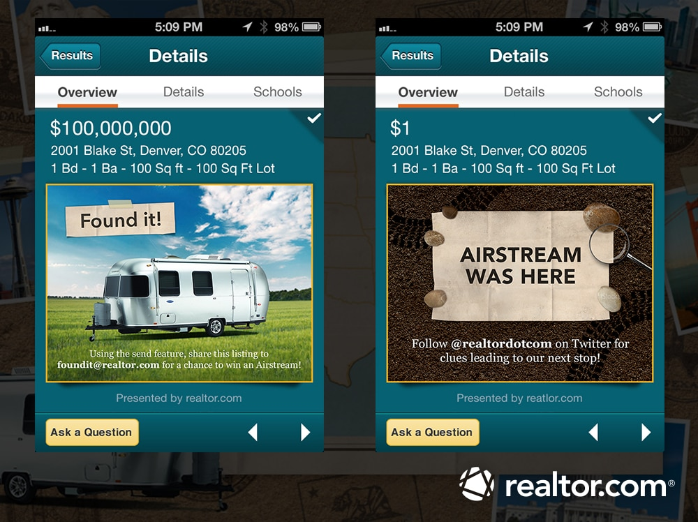 Airstream Trailer to be Given Away through Realtor com