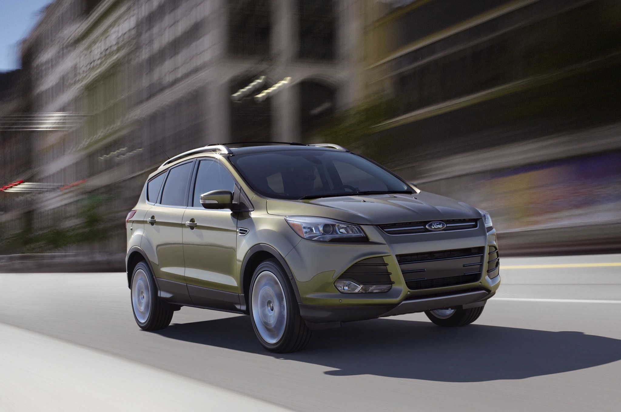 2013 Ford Escape Front Three Quarters In Motion 5