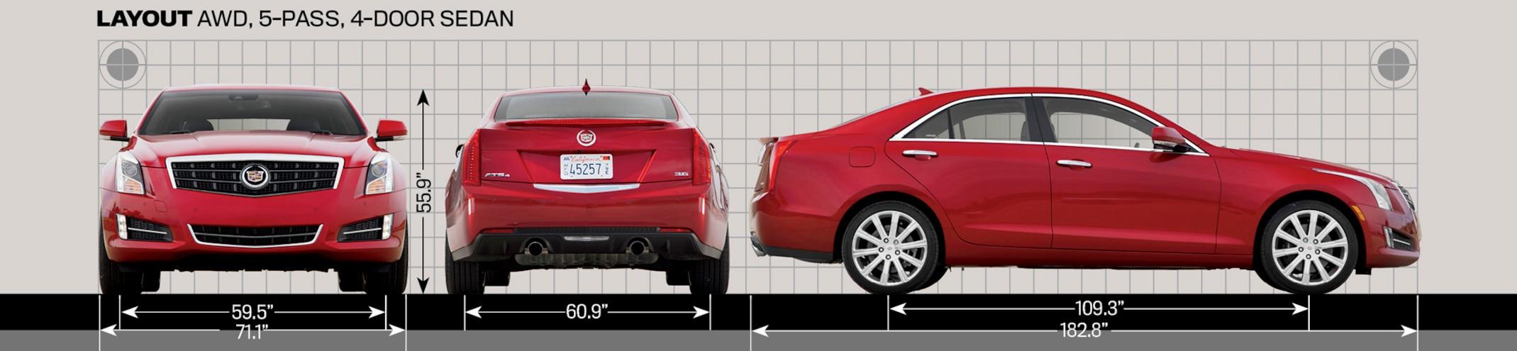 2013 Cadillac ATS4 Dimensions