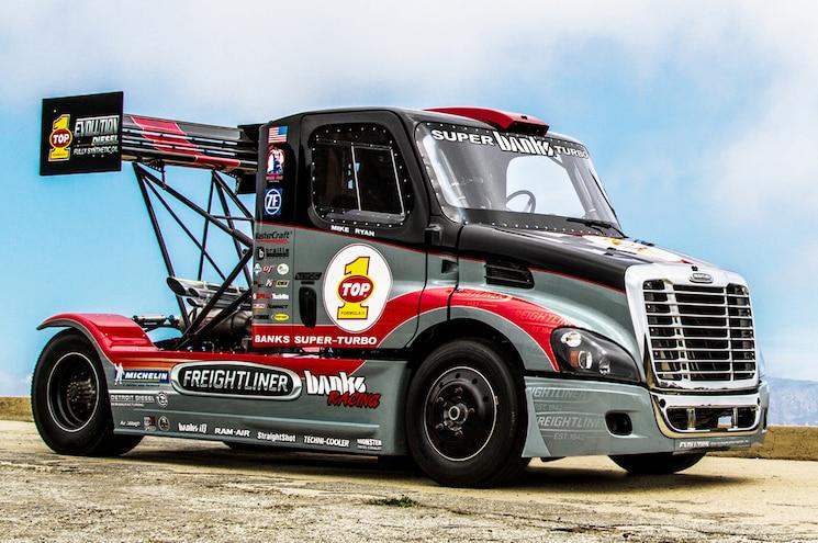 Semi Truck: Banks Freightliner Super Turbo Pikes Peak Truck