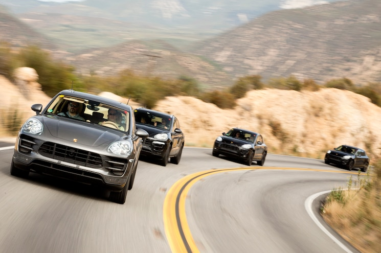 2015 Porsche Macan Front Three Quarters View In Motion 10