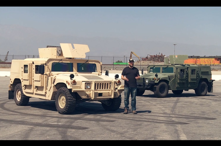 Video: Jonny Lieberman Drives Standard-Issue, Banks-Tuned Military HUMVEEs
