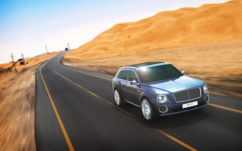Bentley EXP 9F Front Three Quarter Motion