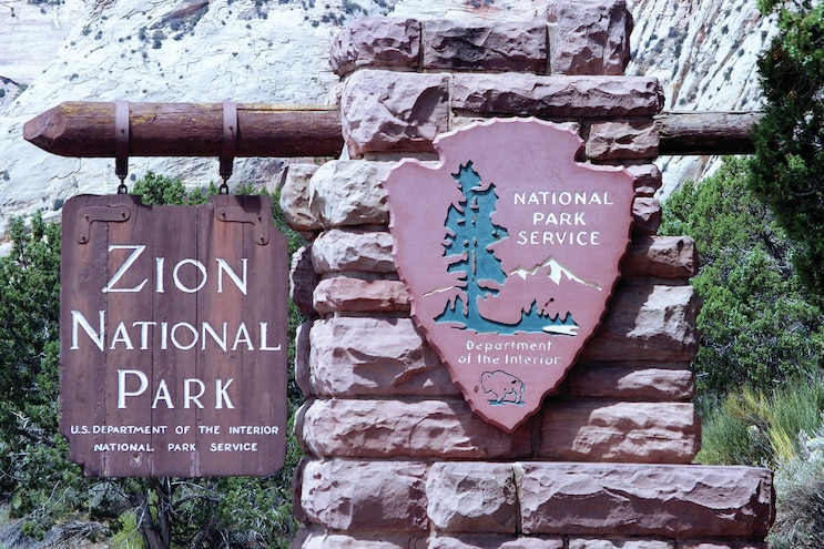 Zion And Bryce Canyon Utah Park Sign