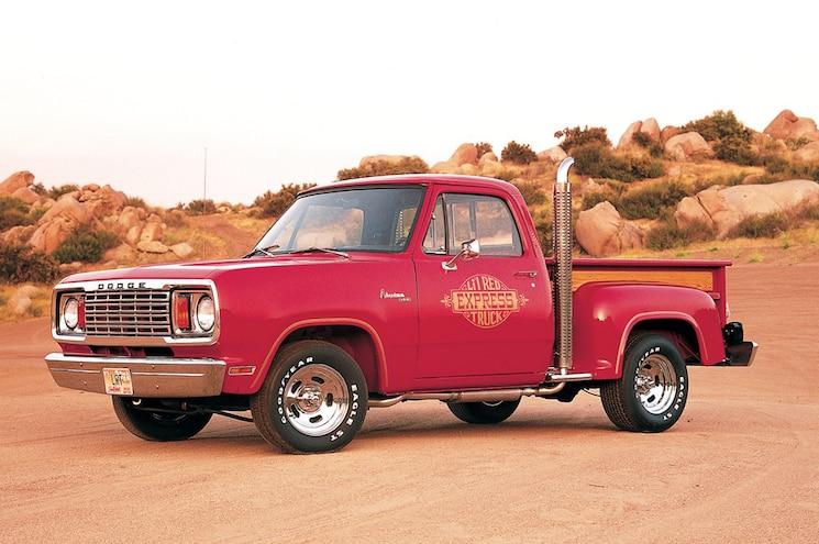 1978 Dodge Li L Red Truck Historic Flashback Truck Trend