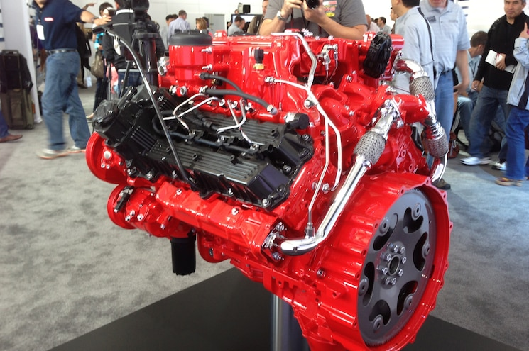 Next Generation Nissan Titan Cummins V8 Turbo On A Stand