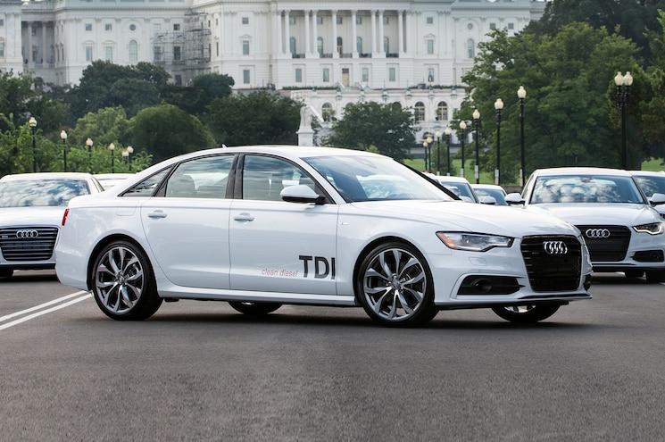 2014 Audi A6 TDI Three Quarters Front View 003
