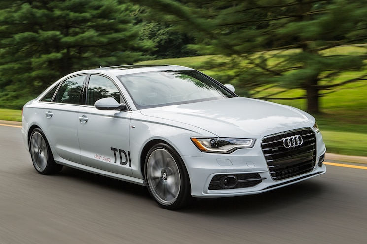 2014 Audi A6 TDI Three Quarters In Motion Front View