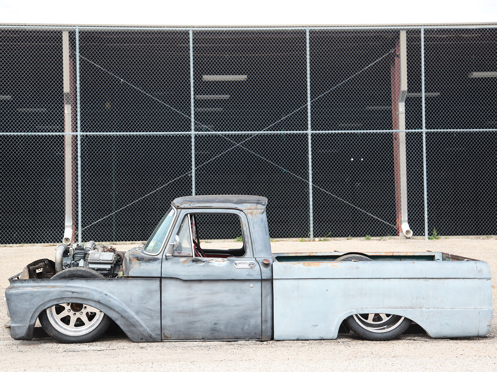 Busted Knuckles 1964 Ford F 100 Slammed And Sentimental Truckin Magazine