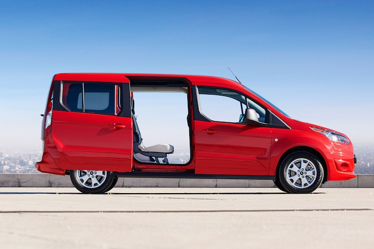 2014 Ford Transit Connect Wagon Profile Passengers Doors Open