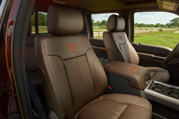 2015 Ford F 250 King Ranch Super Duty Front Seating