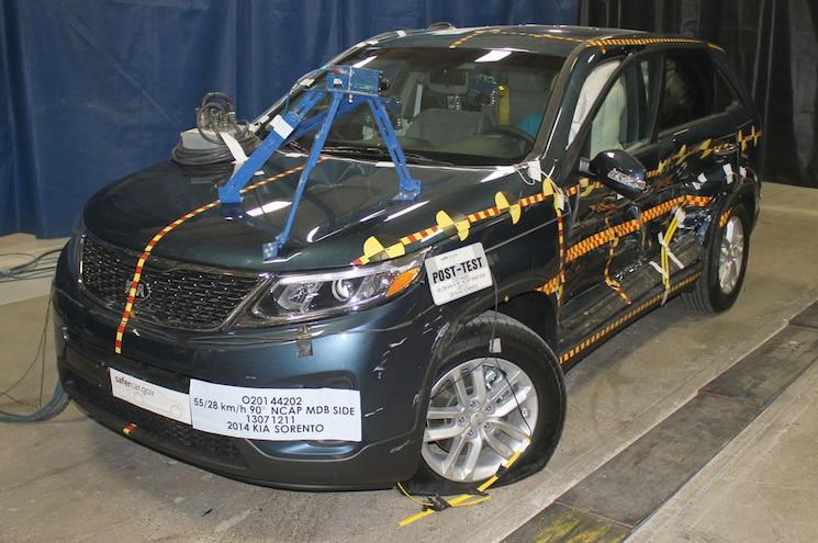 2014 Kia Sorento Improves NHTSA Safety Test Ratings