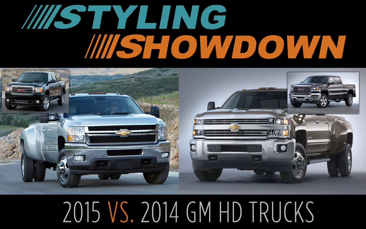 Styling Showdown: 2014 vs. 2015 Chevrolet Silverado/GMC Sierra HD