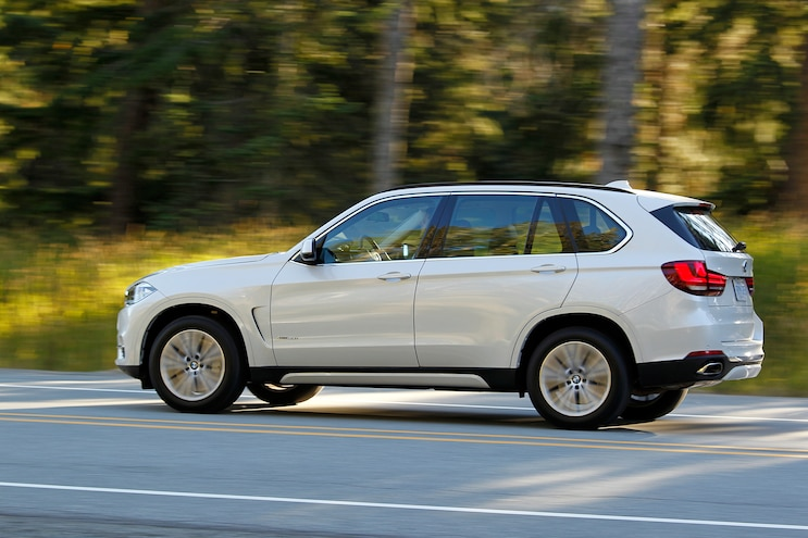 2014 BMW X5 XDrive50i Drivers Side In Motion