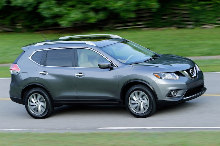 2014 Nissan Rogue Three Quarters In Motion Side View
