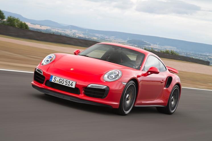 2014 Porsche 911 Turbo Front Three Quarters In Motion