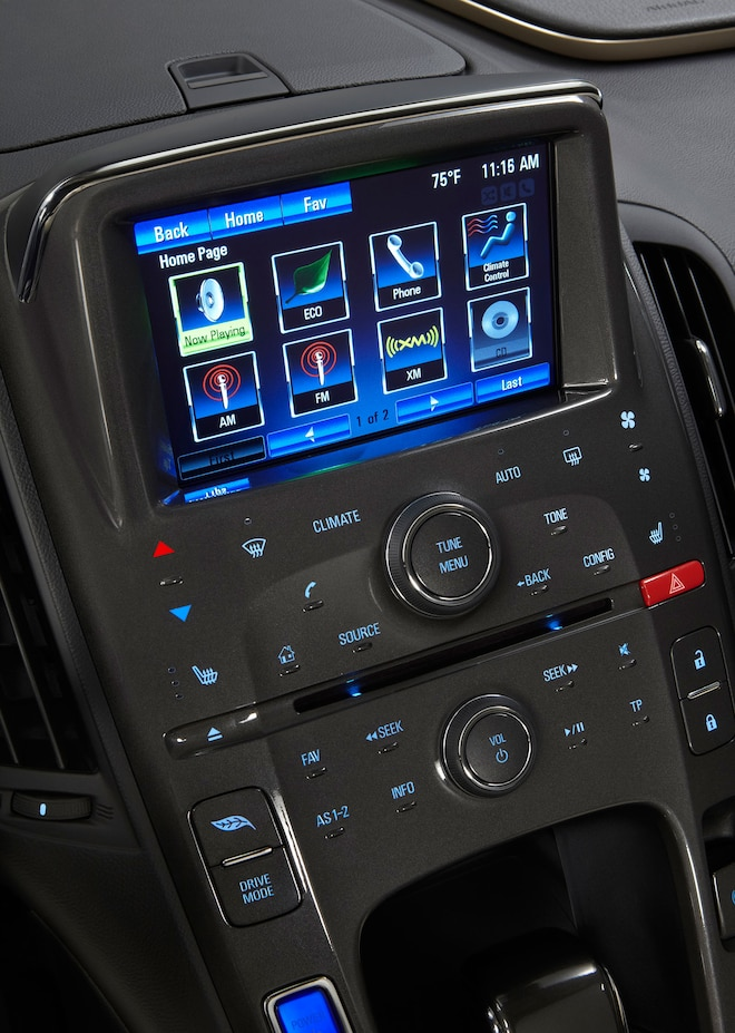 2014 Chevrolet Volt Dash Screen View