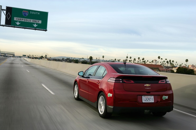 2014 Chevrolet Volt Rear View In Motion