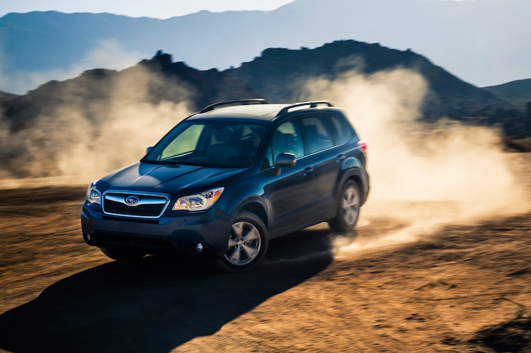 2014 Subaru Forester Front Three Quarters In Motion 04
