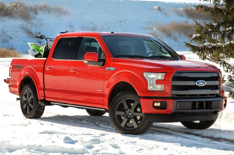 2015 Ford F 150 Front Side View In Snow