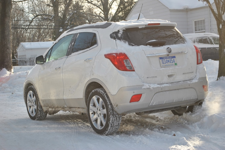 2014 Buick Encore Polar Vortex Rear View Parked