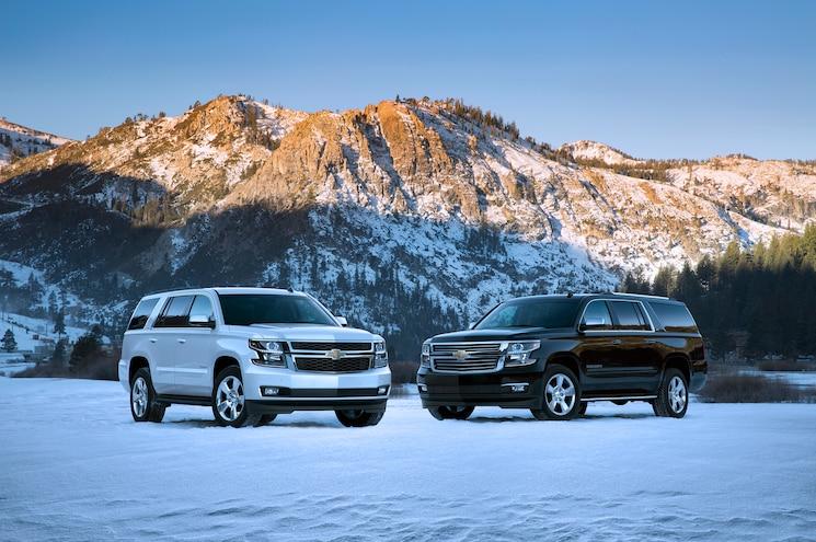 2015 Chevrolet Suburban Chevrolet Tahoe Front Three Quarter
