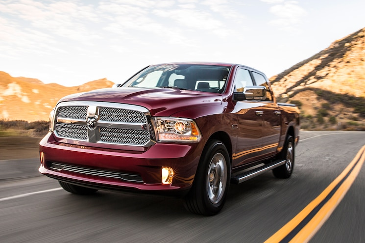 2014 Ram 1500 Limited EcoDiesel Front View In Motion