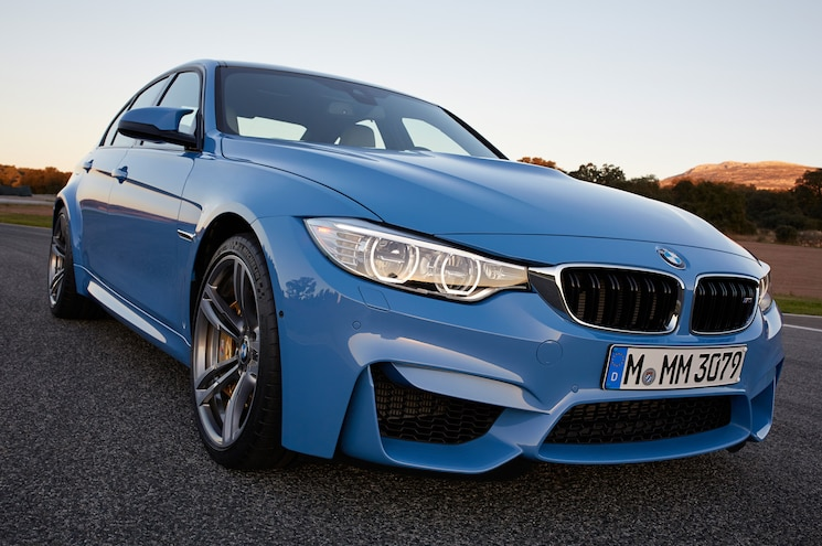 2015 BMW M3 Front Side View Closeup